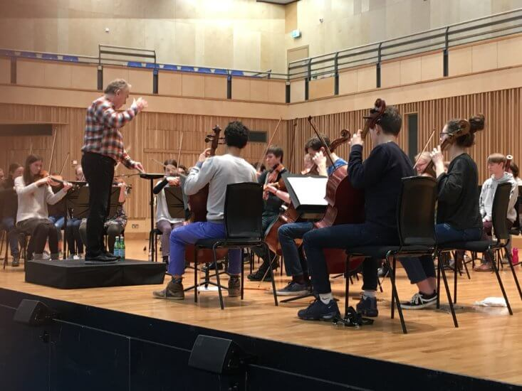BSA and Sir Mark Elder © Britten Sinfonia