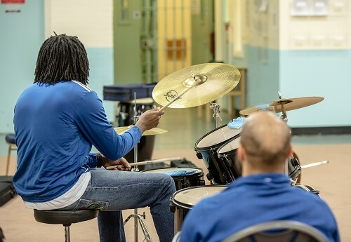 Tuning Up at HMP Whitemoor © Bish Patel