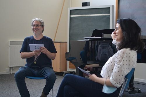 Opus 1 Programme Directors Joe and Dobrinka chat about the scheme © Anna Kent