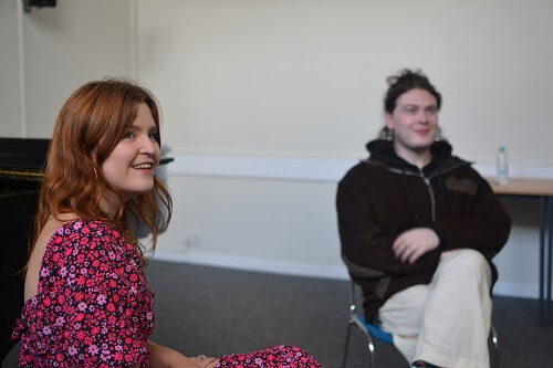 Opus 1 participants Pia and Jamie chat about the scheme © Anna Kent